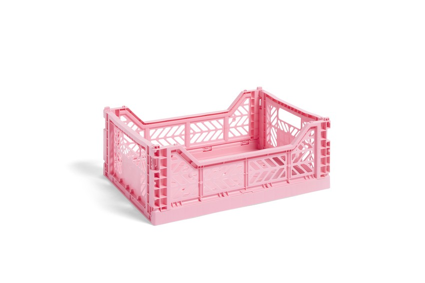 HAY|COLOUR CRATE M PINK / 塑料折疊籃 (Size:M / 粉紅)