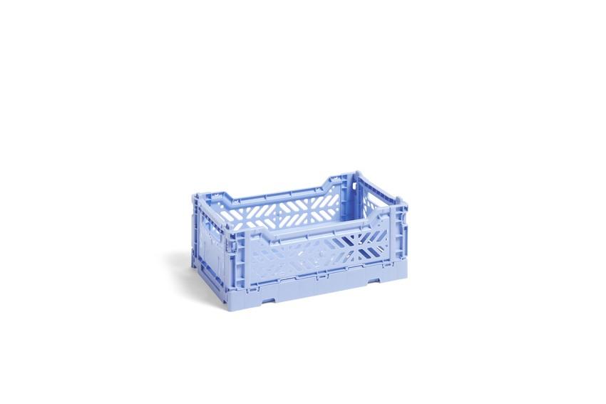 HAY|COLOUR CRATE S LIGHT BLUE / 塑料折疊籃 (Size:S / 粉藍)