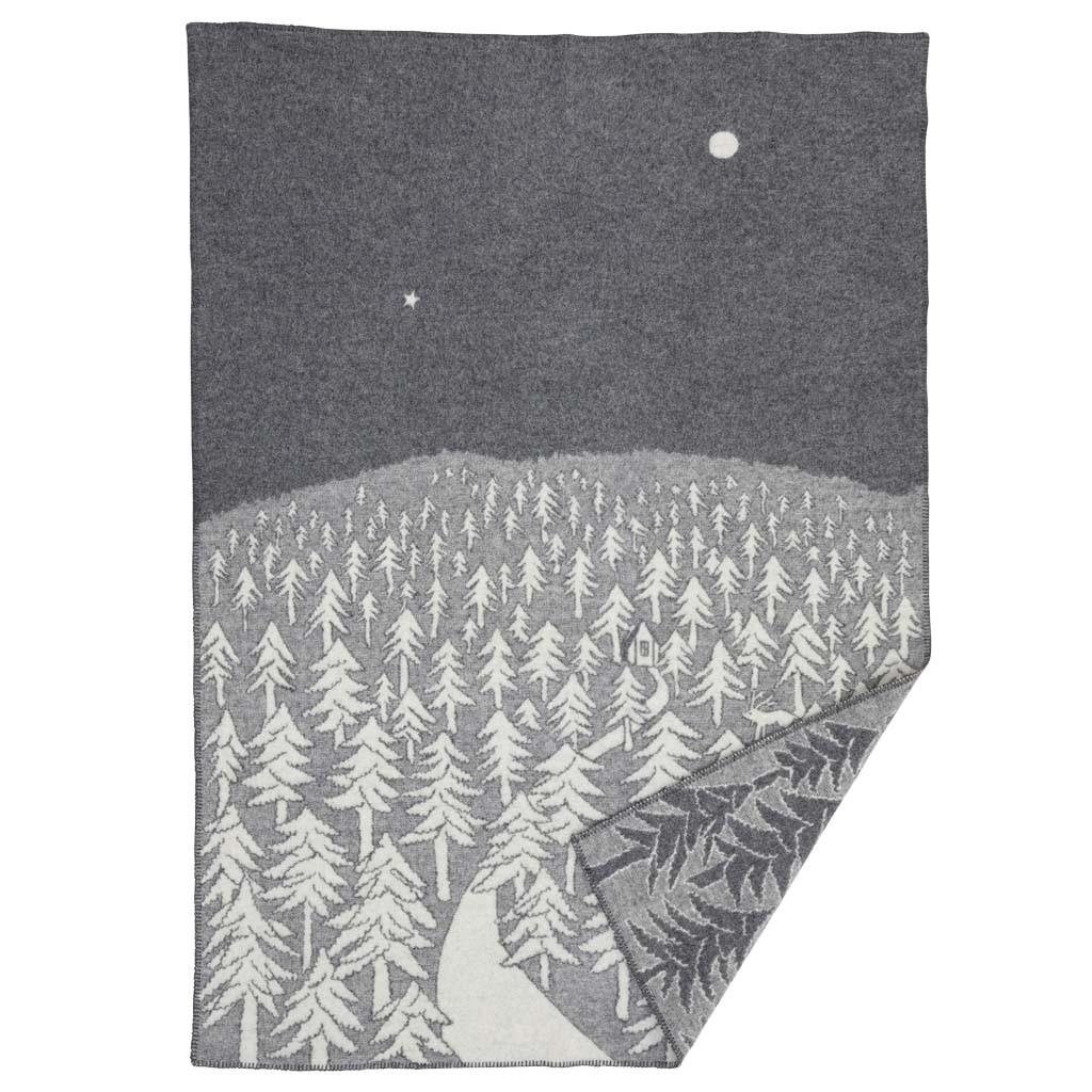 Minä perhonen 聯名大型羊毛毯 (深夜前往森林小屋的那條路灰色)