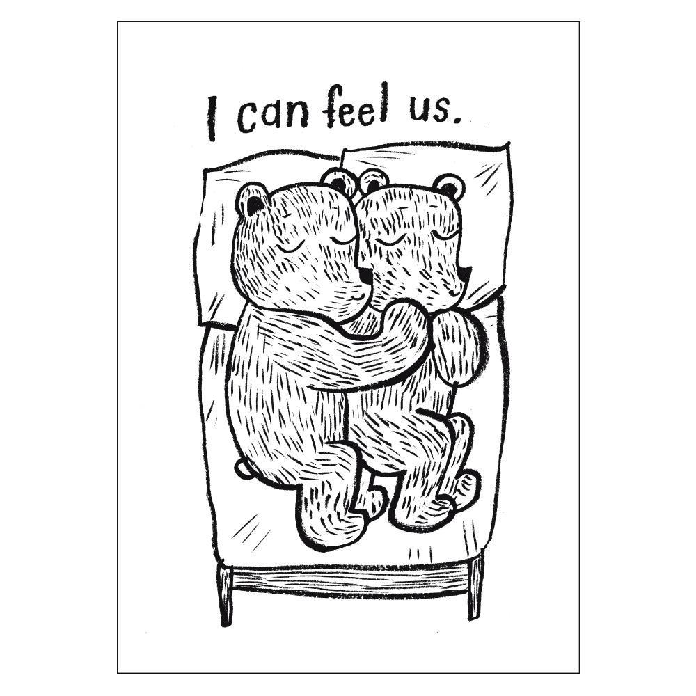 芬蘭CupOfTherapy原裝明信片 - I can feel us