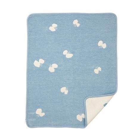 Minä perhonen 聯名choucho有機綿絨蓋毯 (藍色)