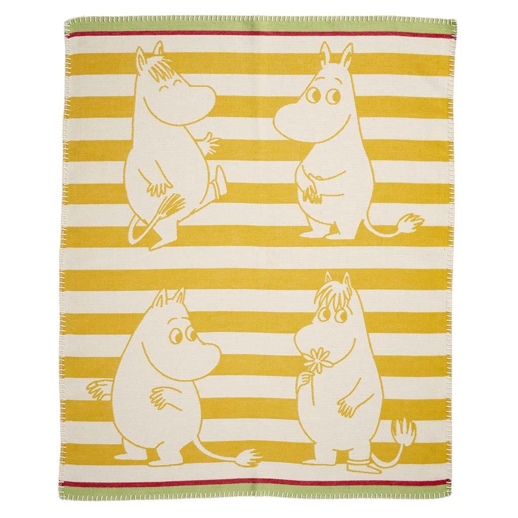 小型有機綿蓋毯 (嚕嚕米 黃色)