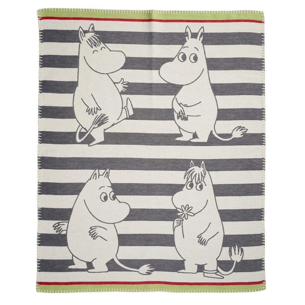 小型有機綿蓋毯 (嚕嚕米 灰色)