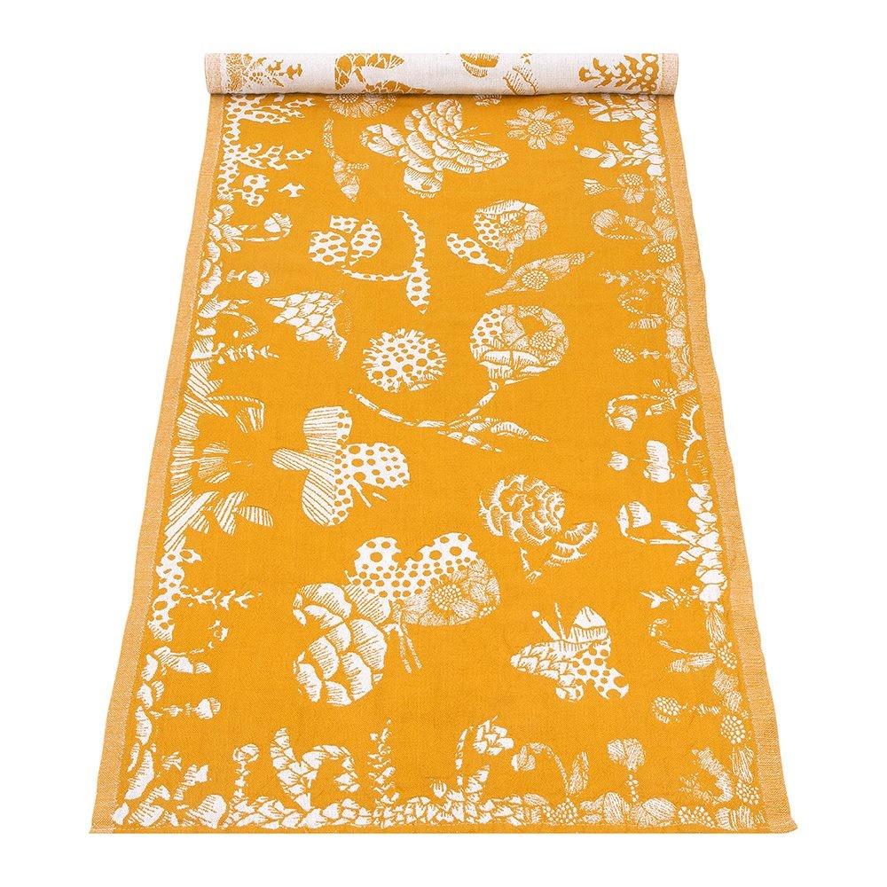 芬蘭Lapuan Kankurit AAMOS棉麻長桌巾 (黃)