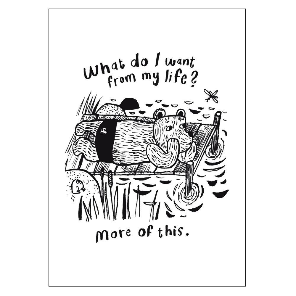芬蘭CupOfTherapy原裝明信片 - What do I want from my life?