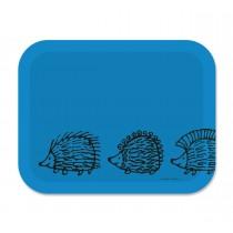 Lisa Larson 刺蝟三兄弟白樺木托盤 (大) (藍)
