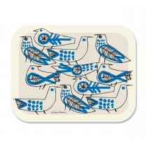 Lisa Larson 復古藍鳥白樺木托盤 (大)