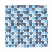 芬蘭Kauniste純棉手帕/包巾 (藍色砂糖)