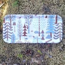 芬蘭Kauniste白樺木長托盤 (藍色森林)
