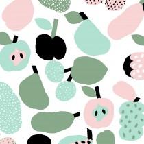 芬蘭Kauniste純棉布料 / 薄荷綠果香樂園 (1單位:50cm)