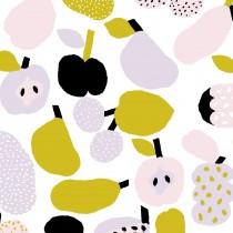 芬蘭Kauniste純棉布料 / 橄欖綠果香樂園 (1單位:50cm)