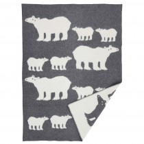 Klippan Yllefabrik x BENGT & LOTTA 羊毛毯 (北極熊)