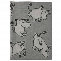 Klippan Yllefabrik 中型羊毛毯 (moomin嚕嚕咪行進中)