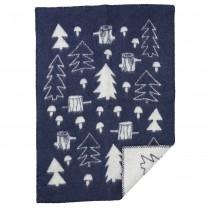 小型羊毛毯 (蘑菇森林)