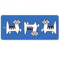 Lisa Larson Felix貓白樺木砧板/餐墊 (藍)