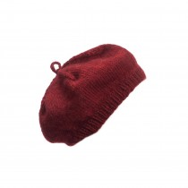 芬蘭 MYSSYFARMI BERET成人手工羊毛貝雷帽 (越橘紅)