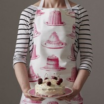 英國Thornback & Peel100%純棉圍裙 (粉紅甜點森林)