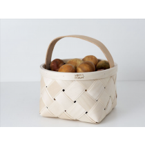 芬蘭Verso Design白樺木編織蘑菇籃 (圓形小尺寸)