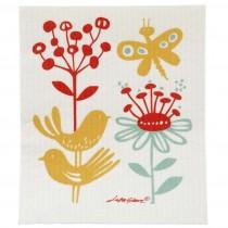 蝴蝶與花海綿擦布