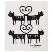 貓咪愛心海綿擦布