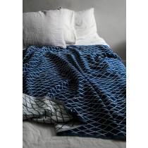 芬蘭Lapuan Kankurit ESKIMO棉麻薄毯/桌巾 (深藍)