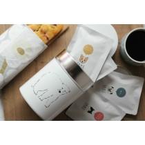 Matsuo Miyuki 插畫儲物罐 +6入掛耳咖啡禮品組