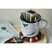 Matsuo Miyuki插畫琺瑯馬克杯 +4入掛耳咖啡禮品組