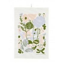 芬蘭Kauniste棉麻萬用巾 (夏日的秘密基地粉藍)