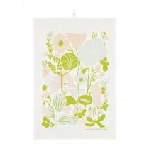 芬蘭Kauniste棉麻萬用巾 (夏日的秘密基地粉綠)