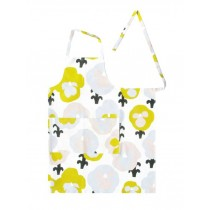 芬蘭Kauniste棉麻圍裙 (黃色三色堇)