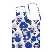 芬蘭Kauniste棉麻圍裙 (紫色三色堇)