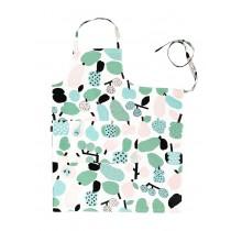 芬蘭Kauniste棉麻圍裙 (薄荷綠果香樂園)