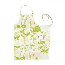 芬蘭Kauniste棉麻圍裙 (夏日的秘密基地粉綠)