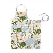 芬蘭Kauniste棉麻圍裙 (夏日的秘密基地粉藍)