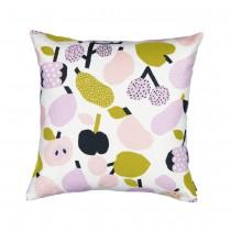 芬蘭Kauniste棉麻抱枕套 (橄欖綠果香樂園)