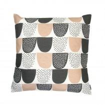 芬蘭Kauniste棉麻抱枕套 (粉紅砂糖)
