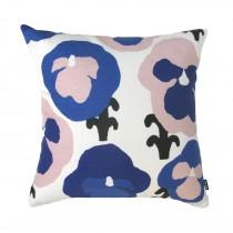 芬蘭Kauniste棉麻抱枕套 (紫色三色堇)