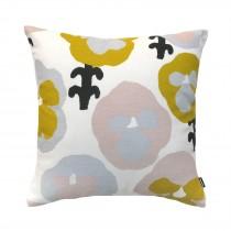 芬蘭Kauniste棉麻抱枕套 (黃色三色堇)