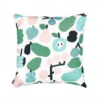 芬蘭Kauniste棉麻抱枕套 (薄荷綠果香樂園)