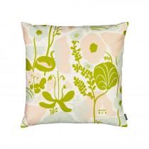 芬蘭Kauniste棉麻抱枕套 (夏日的秘密基地粉綠)
