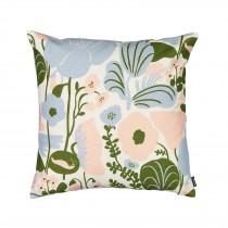 芬蘭Kauniste棉麻抱枕套 (夏日的秘密基地粉藍)