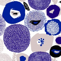 芬蘭Kauniste純棉布料 / 紫色星期天 (1單位:50cm)