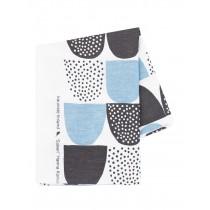 芬蘭Kauniste棉麻布料 / 藍色砂糖 (1單位:50cm)