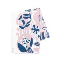 芬蘭Kauniste棉麻布料 / 粉藍香氛 (1單位:50cm)