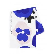 芬蘭Kauniste棉麻布料 / 紫色三色堇 (1單位:50cm)