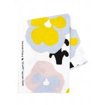 芬蘭Kauniste棉麻布料 / 黃色三色堇 (1單位:50cm)