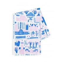 芬蘭Kauniste棉麻布料 / 粉色赫爾辛基 (1單位:50cm)