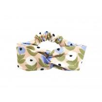 芬蘭Kauniste純棉髮帶 (花意粉藍)