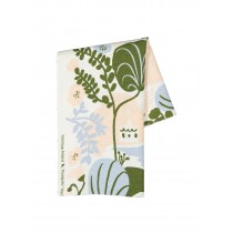 芬蘭Kauniste棉麻布料 / 夏日的秘密基地粉藍 (1單位:50cm)