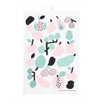 芬蘭Kauniste棉麻萬用巾 (薄荷綠果香樂園)